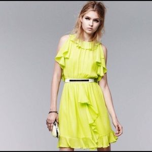 Prabal Gurung for Target Neon Green Ruffled Dress
